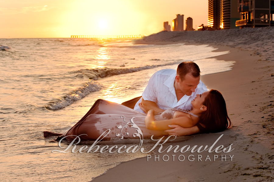 Panama City Beach Engagement Couple Photographer