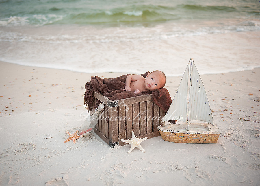 Panama City beach baby photography newborn studio