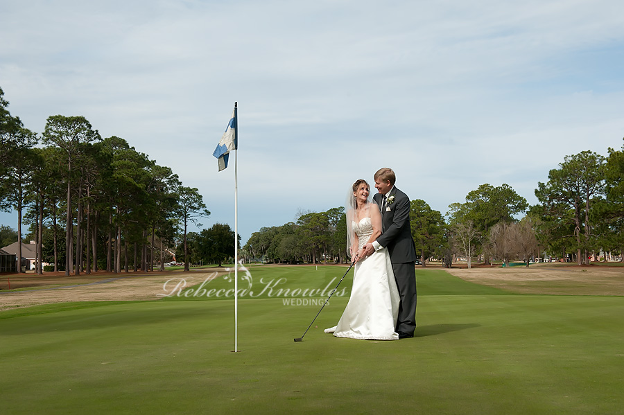 Panama City country club golf wedding photographers