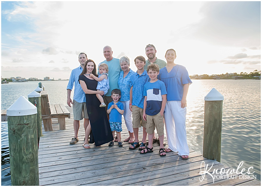 Orange Beach family portrait session on the beach
